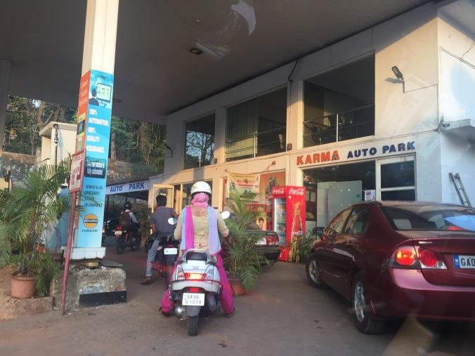 Petrol station image